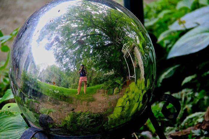 garden mirror gazing ball